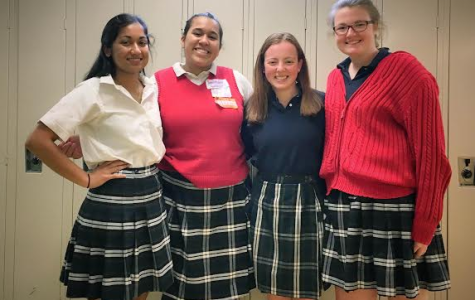 Left to Right: President Nathalie Falcao '17, Secretary Cece Whitlock '19, Treasurer Sophia Sardegna '18, and Vice President Sarah McAuliffe '17.