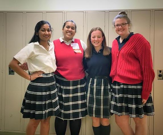 Left to Right: President Nathalie Falcao '17, Secretary Cece Whitlock '19, Treasurer Sophia Sardegna '18, and Vice President Sarah McAuliffe '17.