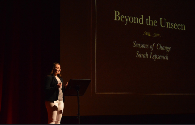 Sarah Lepsevich '17 shares her talk: Behind the Unseen: Seasons of Change.