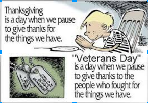 Giving Thanks to Veterans