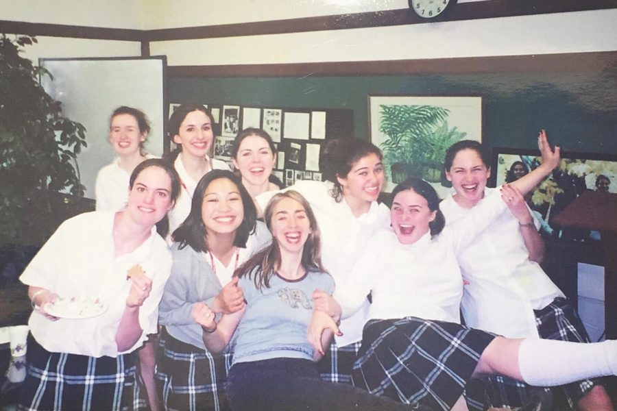 Meghan and her classmates having an impromptu dance party in the faculty lounge at the Natick campus.