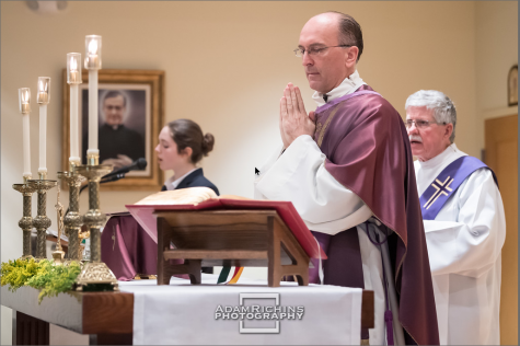 Fr. Jeff says daily mass with Deacon Fred.