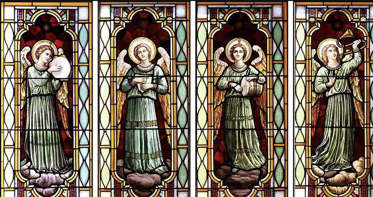 The windows of the Montrose chapel depict guardian angles much like the ones Anna 22 describes.