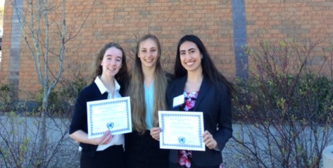 Two Montrosians win Awards of Distinction at Sandwich Model UN Conference