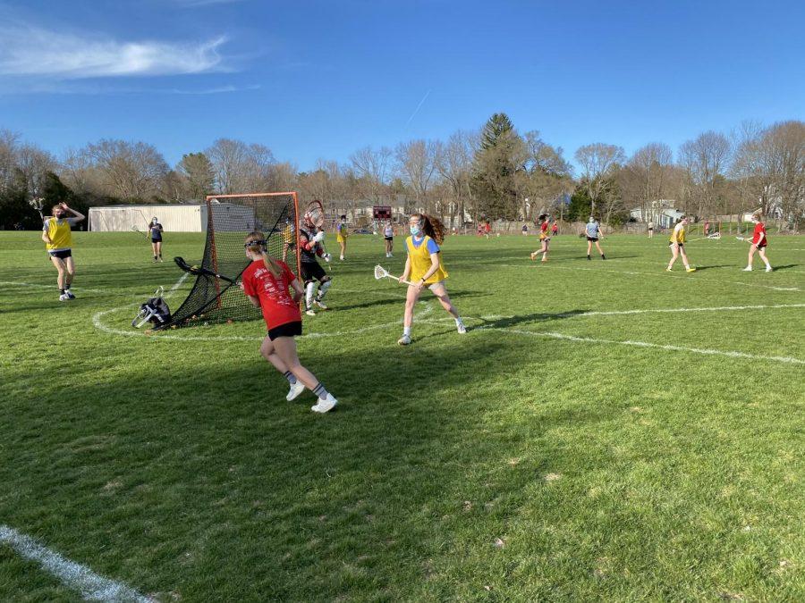 Montrose Varsity Lacrosse players Annie Bratschi