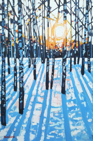 """""""Morning Lines,"""" a painting by Holly Lombardo"""