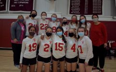 The JV Volleyball team after their game at Gann Academy.
