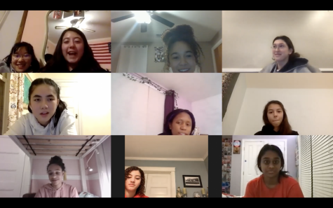 Members of the Multicultural Club in an online meeting.
