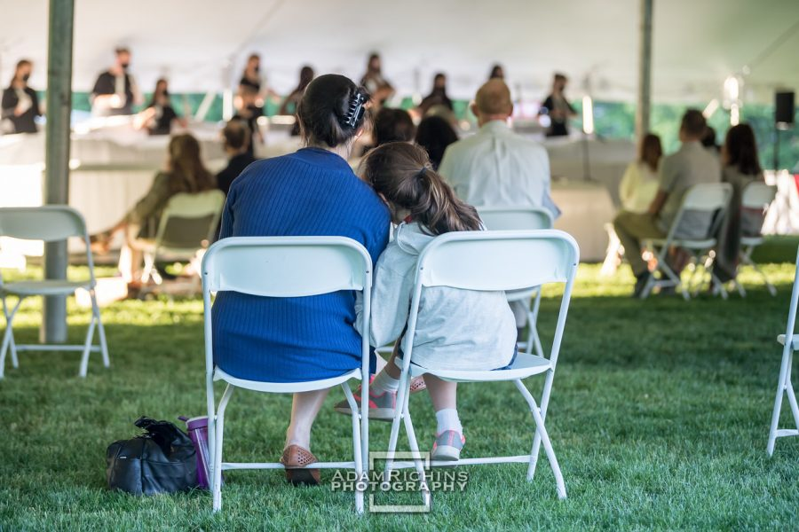 The Performing Arts showcase was held outside with a socially distant audience.