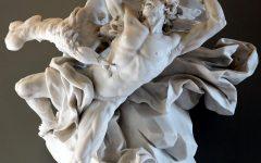 A sculpture by Nicolas-Sébastien Adam of Prometheus giving fire to man.